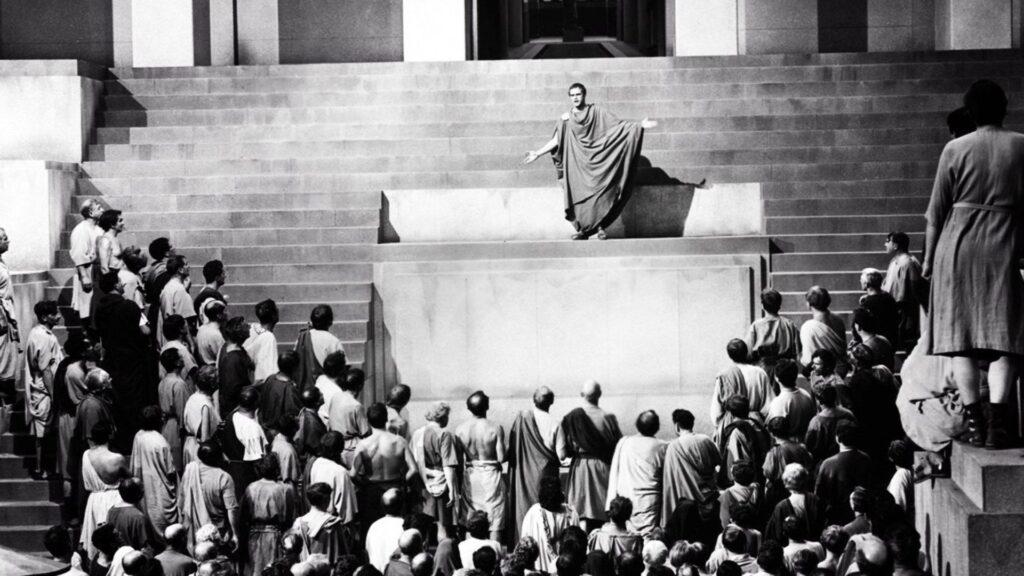 art oratoire prise de parole obsèques orateur Jules Cesar